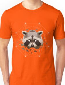 Geometric Raccoon Unisex T-Shirt