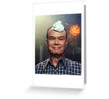 red forman with whipped cream on his head Greeting Card