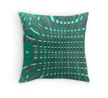 Manchurian Bamboo Ring Cage Throw Pillow