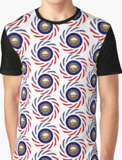 New Hampshire Murican Patriot Flag Series Graphic T-Shirt