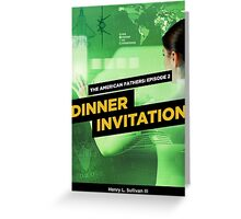 Dinner Invitation Book Cover Greeting Card
