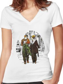 Fargo - Ed and Peggy Women's Fitted V-Neck T-Shirt
