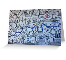 Map of london life Greeting Card