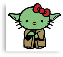 Hello Kitty Yoda Star Wars Canvas Print