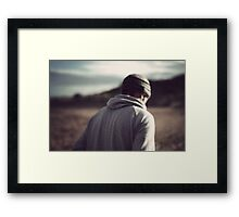 I watch you fade into a memory Framed Print
