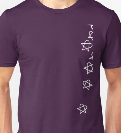 Heartagram Shower (White) Unisex T-Shirt