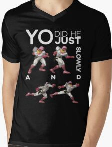 Yo, did he just walk up slowly and Down-Smash? - Super Smash Bros. Melee - Scar Mens V-Neck T-Shirt