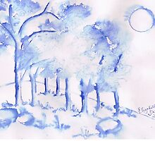 Trees in winter by Elizabeth Kendall