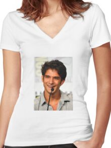 Cute Tyler Posey smile Women's Fitted V-Neck T-Shirt