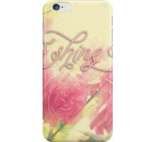 Beautiful Pink English Roses Shine Matte Sunlight Rays iPhone Case/Skin