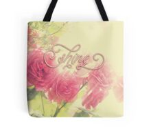 Beautiful Pink English Roses Shine Matte Sunlight Rays Tote Bag