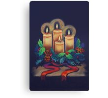 Merry Christmas - advent wreath is for you! Canvas Print