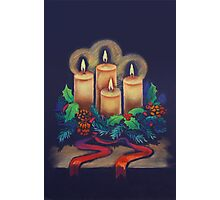 Merry Christmas - advent wreath is for you! Photographic Print