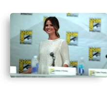 Shelley Hennig - Comic Con Canvas Print