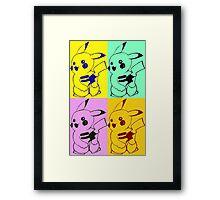 Pika pop art Framed Print