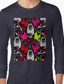 wolf, fox and fish #4 Long Sleeve T-Shirt