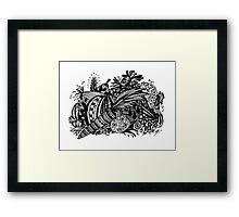 Vegetables Aussie Tangle Framed Print