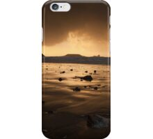 Storm clouds at Worms Head  iPhone Case/Skin