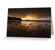 Storm clouds at Worms Head  Greeting Card