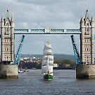 The Alexander Von Humboldt ll sailing through London's Tower Bridge by Vincent Abbey