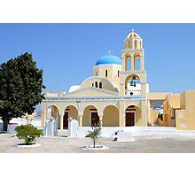 Church, Oia, Santorini, Greek Islands Photographic Print