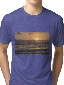 Sunset Over Wales Tri-blend T-Shirt