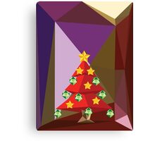Red Polygonal Christmas Tree Canvas Print