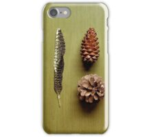 Three fell from a pine tree iPhone Case/Skin