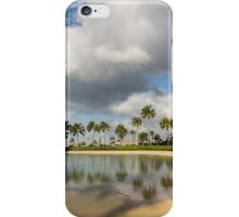 Tropical Beach Joy - Lagoon Shadows and Reflections of Palm Trees iPhone Case/Skin