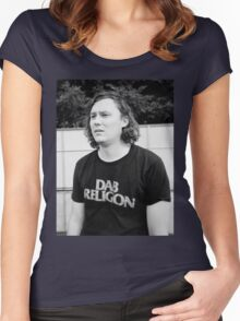 "Brian Sella (The Front Bottoms) ""Dab Religion"" Women's Fitted Scoop T-Shirt"