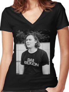 "Brian Sella (The Front Bottoms) ""Dab Religion"" Women's Fitted V-Neck T-Shirt"