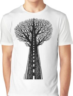 Road and tree Graphic T-Shirt