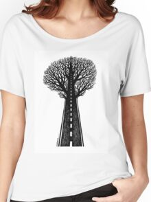 Road and tree Women's Relaxed Fit T-Shirt