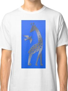 Giraffe and bird - perforated sheet design Classic T-Shirt