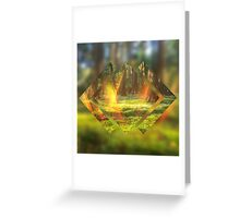 Take Me to the Magic Forest Abstract Geometric Greeting Card