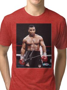 Mike Tyson on the ring Tri-blend T-Shirt