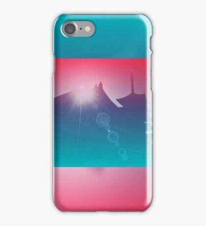 Beautiful Pagoda Temple Silhouette Light Leak Gradation iPhone Case/Skin