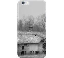 Forest Avenue Barn BW iPhone Case/Skin