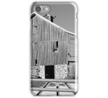 Hickory Avenue Barn BW iPhone Case/Skin