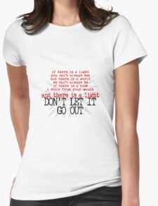 u2 song for someone light out Womens Fitted T-Shirt