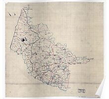 Civil War Maps 2000 Map of Hanover County Va Poster