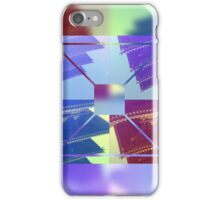 Abstract Five-Storied Pagoda Purple Brown Green Geometric iPhone Case/Skin