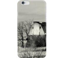 Clay Brick Barn BW iPhone Case/Skin