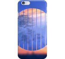 Sunset Starry Night Sky Blue Orange Geometric Abstract iPhone Case/Skin