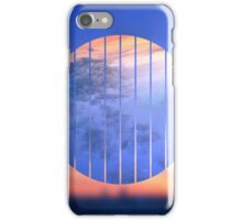 Sunset Starry Night Sky Blue Orange Geometric Abstract iPhone Case/Skin