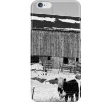 Hereford Barn BW iPhone Case/Skin