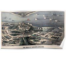 Civil War Maps 1804 The siege of Yorktown April 1862 Poster
