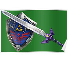 Master Sword - Hyrule Shield Poster