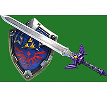 Master Sword - Hyrule Shield Photographic Print