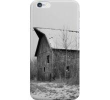 Packard Ave Barn BW iPhone Case/Skin